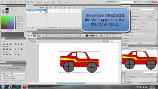 Making a moving car in Adobe Flash