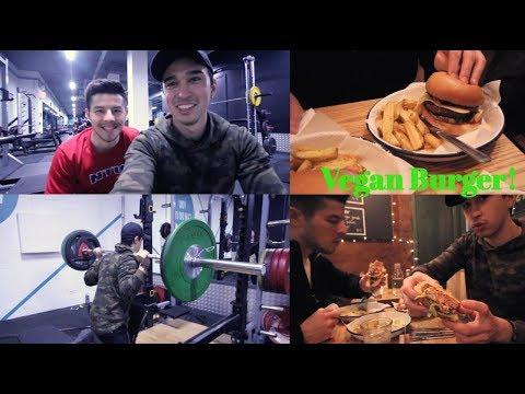 【筋トレ】今の脚トレ&ヴィーガンハンバーガーを食べてみた!