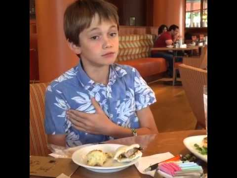 Kid's First Time Reaction to Eating Pork...