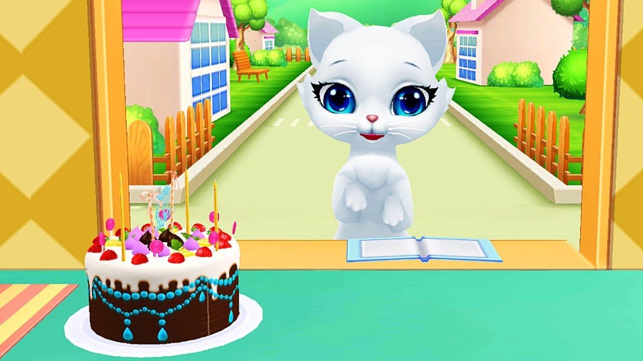 Làm Bánh Kem Tặng Sinh Nhật Mèo Trắng – Game Làm Bánh Vui Nhộn