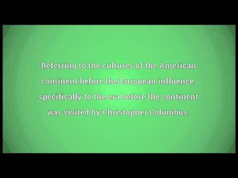 Pre-Columbian Meaning