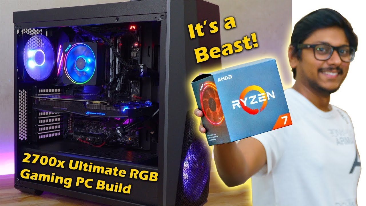 Ryzen 7 2700x Ultimate Rgb Gaming Pc Build 2018 Youtube