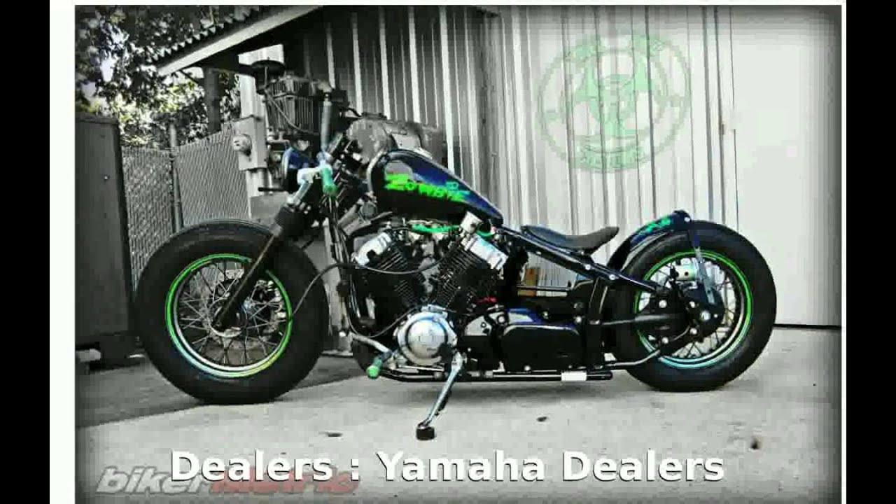 Yamaha V Star Custom Purple
