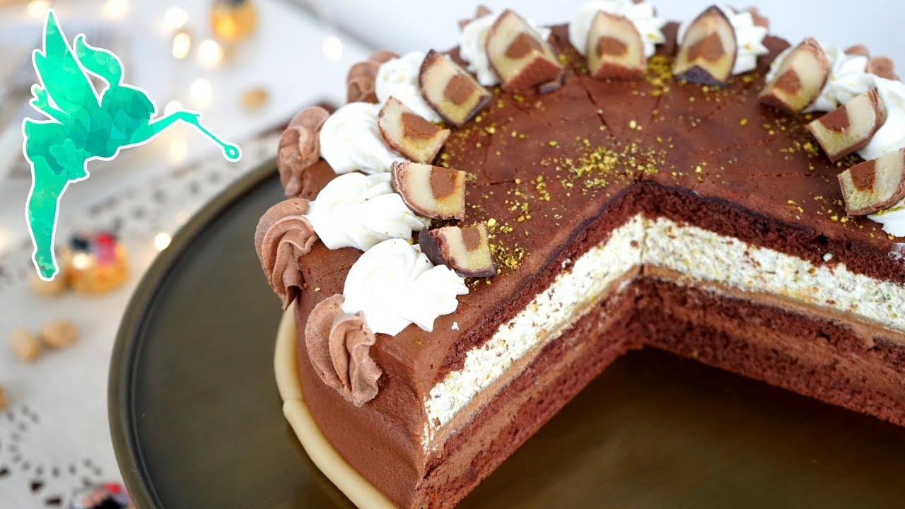 Mozart Torte Torte Mit Nougat Schokolade Marzipan Pistazien