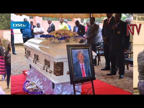 Deceased Former Olympic committee treasurer Godfrey Nuwagaba's body at lugogo