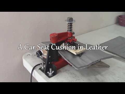 Bespoke Leather Car Seat  on a Chair - Part Five