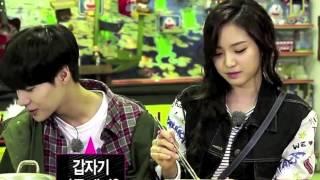 131019 Cute Taemin tries to ease Naeun