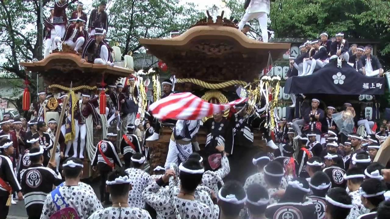 平成28年10月01日蜂田神社地車八臺宮入宮出 - YouTube