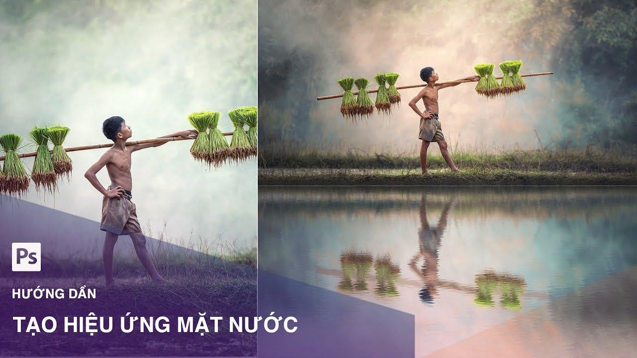 Tạo hiệu ứng mặt nước, bóng nước nhanh chóng trong Photoshop| Designer Việt Nam