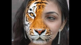 making half women half tiger in fotoshop cs5 fast and easy