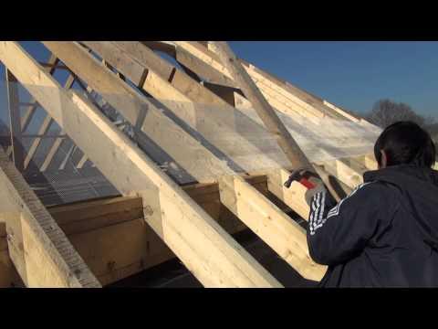 видео: Крыша дома, делаем обрешетку