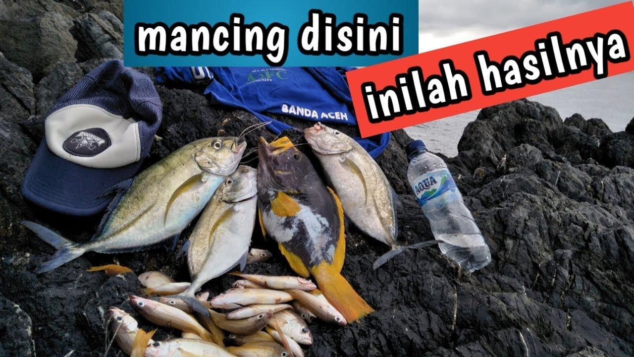 Mancing di pantai riting (Aceh Besar) - YouTube