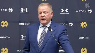 @NDFootball | Brian Kelly Press Conference - Michigan (10.21.19)