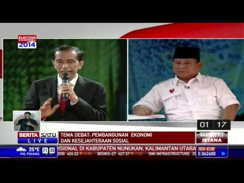 Debat Capres 2014: Tanya Jawab Prabowo vs Jokowi #3