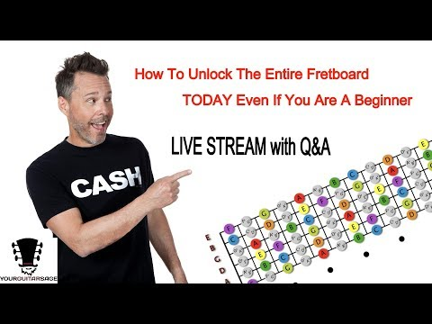 How To Unlock The Entire Fretboard TODAY Even If You Are A Beginner + Live Q&A