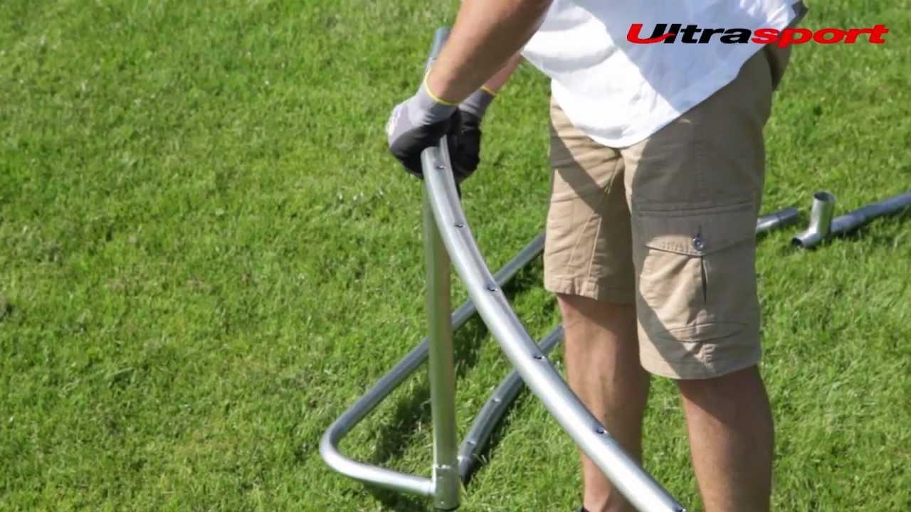 Ultrasport Ultrafit Trampolin - Aufbau des Rahmens - YouTube