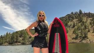 Jennifer Kasey Zemp  Surfing in Heels