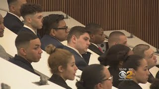 NYPD Swears In New Class Of Police Academy Recruits