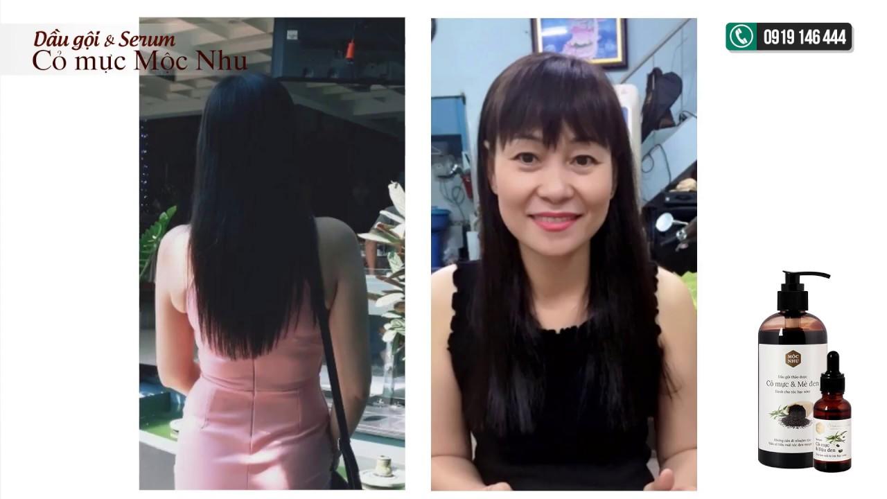 Serum & Dầu gội Cỏ Mực Mộc Nhu đã làm thay đổi mái tóc bạc của chị Hương như thế nào?