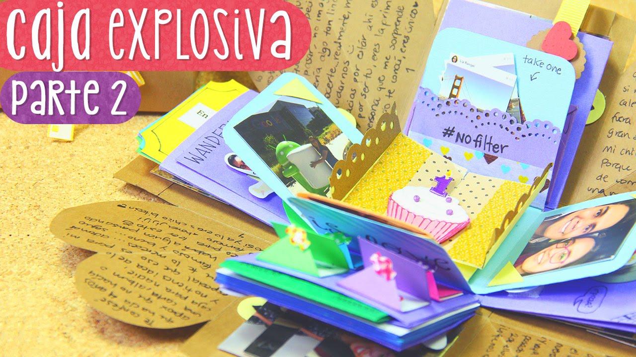 Scrapbook ideas tutorial - Exploding Box With Maze Anniversary Gift Idea Tutorial Part 2 Youtube