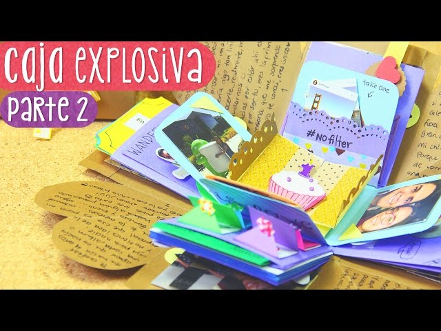 CAJA SORPRESA con laberinto - Tutorial Parte 2 (Exploding Box)  ? Craftingeek