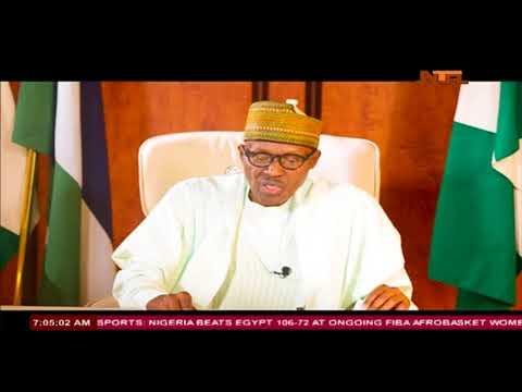 President Muhammadu Buhari's National Broadcast