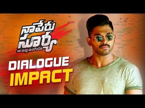 Naa Peru Surya Naa Illu India Dialogue...