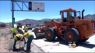 Police Investigate Crash That Killed Couple, Seriously Hurt Infant On 14 Freeway In Acton