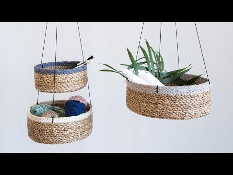 DIY: Seagrass storage baskets by Søstrene Grene
