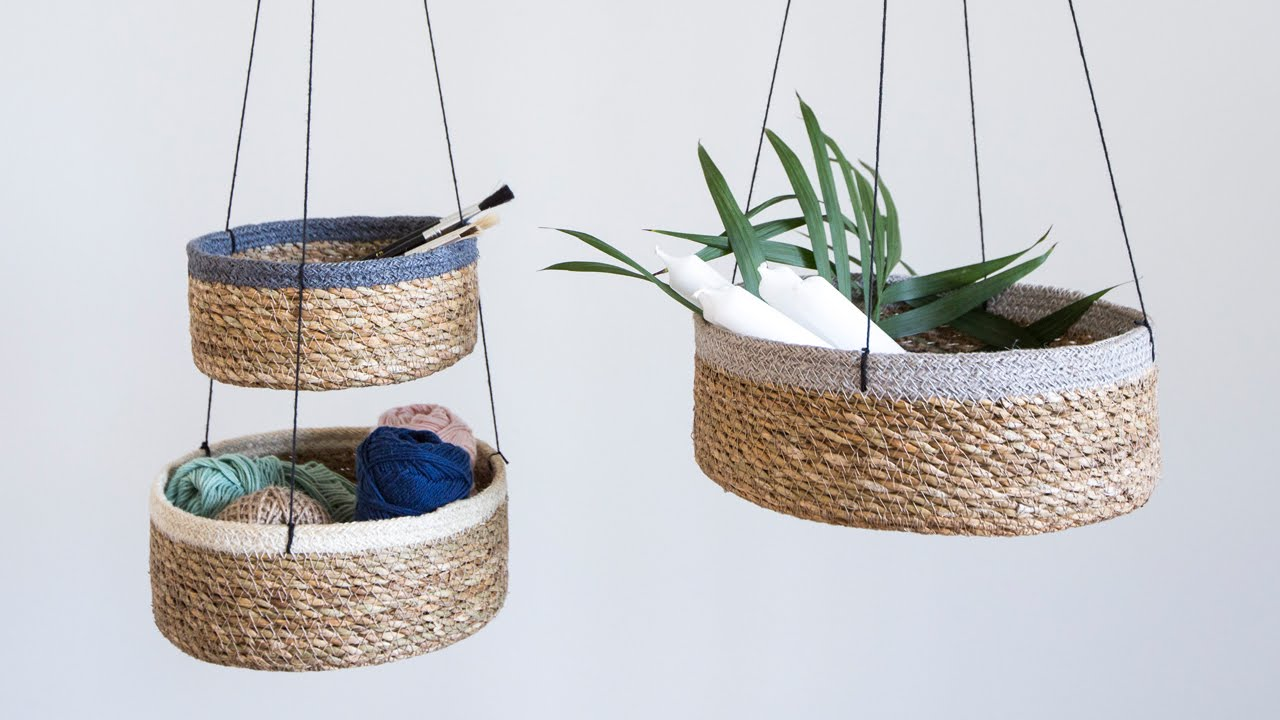 DIY: Seagrass storage baskets by Søstrene Grene - YouTube