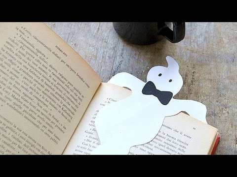 How To Make A Paper Ghost Bookmark - DIY Crafts Tutorial - Guidecentral