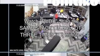 Dem. In Georgia 'Suitcase Scandal' Caught Running Same Batch of Ballots Through Tabulator 3 TIMES