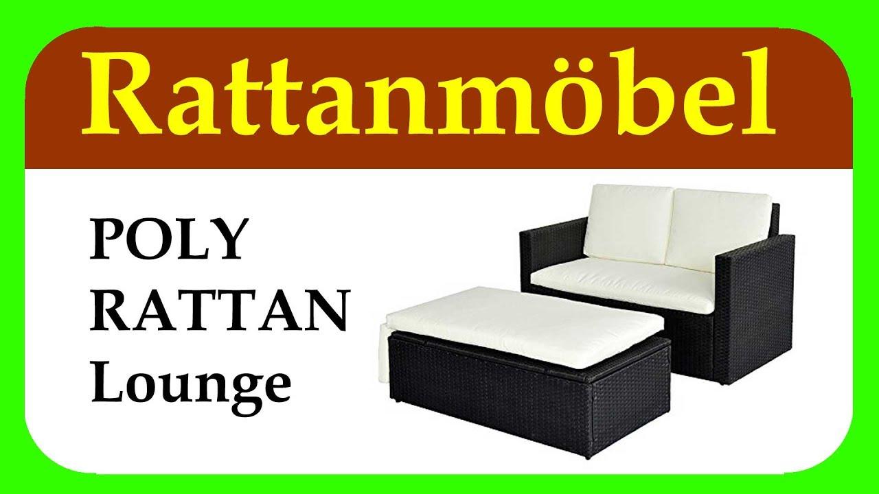 Lounge Gartenset Sofa Garnitur Polyrattan - YouTube