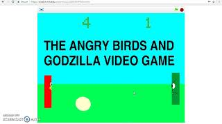 The Angry Birds & Godzilla Video Game (Gameplay Trailer)
