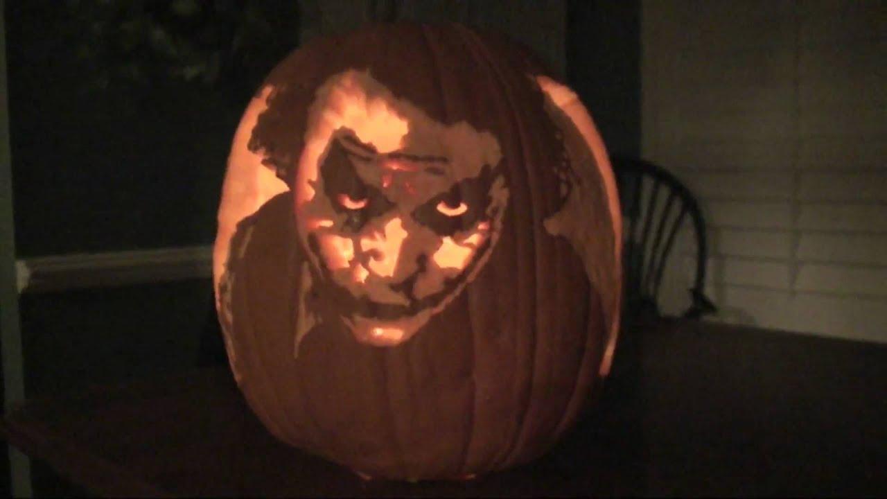 Heath Ledger Joker Pumpkin Youtube