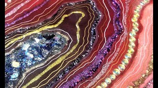 #60- Creating A Resin Geode With Epoxy Borders, On A Budget- A Challenge!