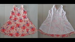 Como Forrar e Costurar Vestido Evasê Com Acabamento
