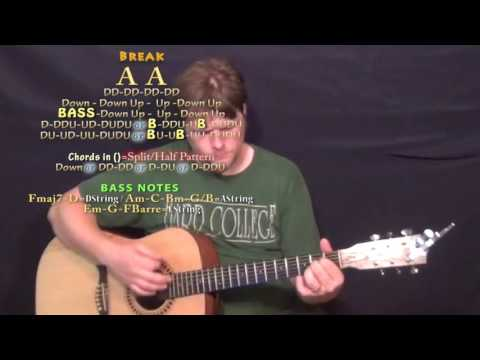 A Little More Summertime (Jason Aldean) Guitar Lesson Chord Chart in A Major