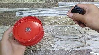 Cara  Membuat Big Yoyo  dari tutp Toples