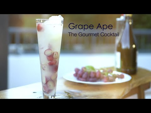How to make the best Champagne Cocktail with Vodka and Fresh Grapes
