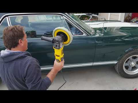 DeWalt polisher DWP489X review and demo compared to Harbor Freight buffer