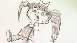 How to Draw a Cartoon Zombie