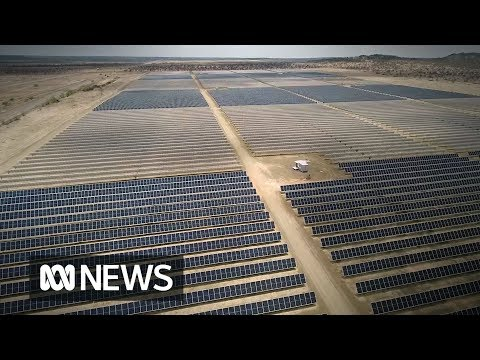 Hughenden's hybrid renewable energy farm from the air | ABC News