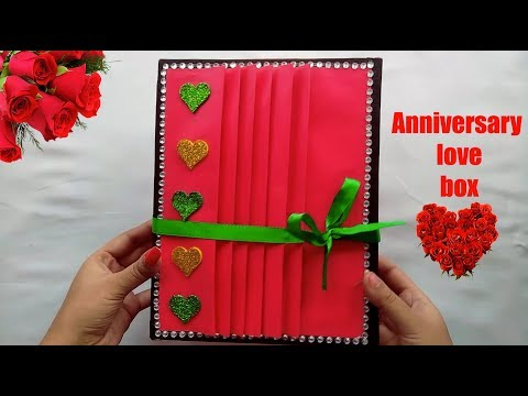 Anniversary Love Box Trailer | Handmade Gift Box