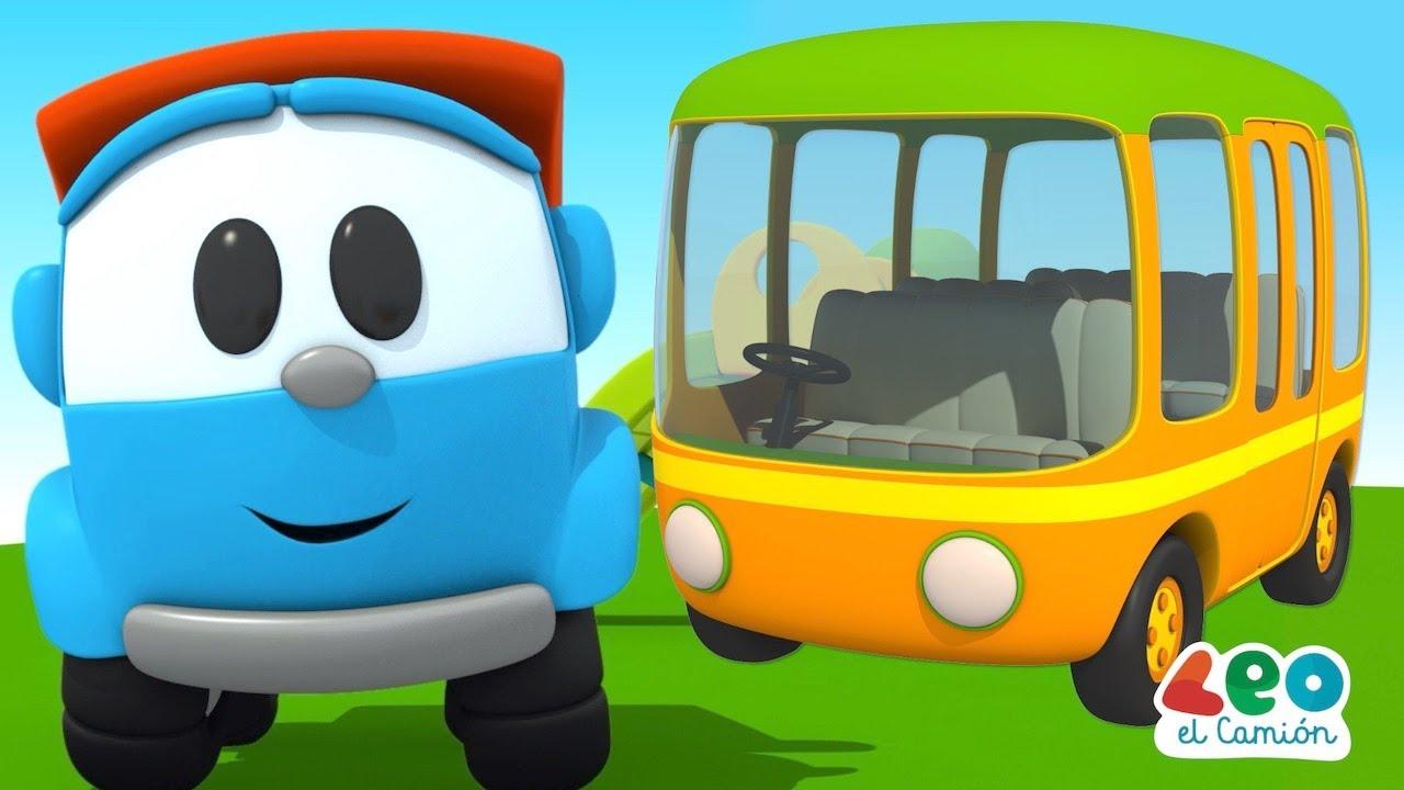 Leo el Camión - Leo y el Autobús Amarillo - Videos educativos para niños