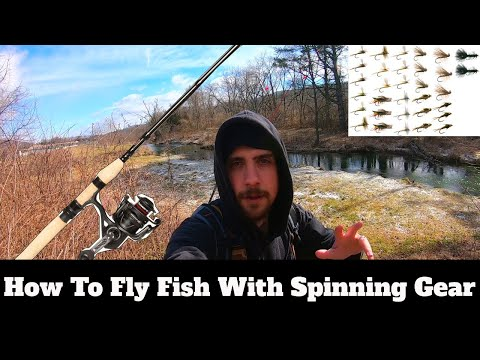 How To Fly Fish With Spinning Rod & Reel: Fly Fishing For Trout With Spinning Gear   SFSC