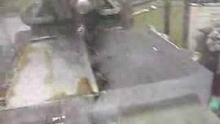 Cincinnati Shaper cutting Climax locomotive bolster plate