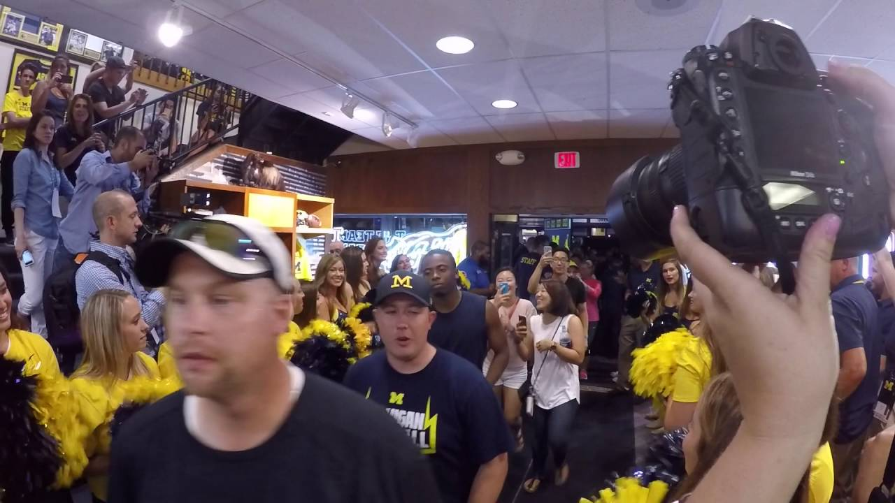 M-Den opens it's doors to University of Michigan fans at Nike release party