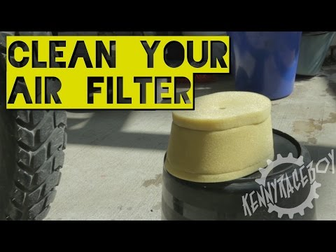 How To: Air Filter Clean & Replace - KLR650