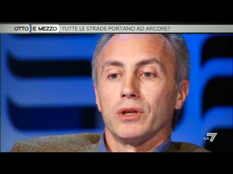 OTTO E MEZZO - Marco Travaglio e Matteo Renzi ospiti di  Lilli Gruber